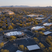 an aerial view of the Scottsdale Children's Institute